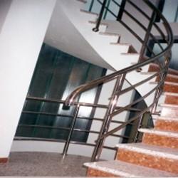 05. Stainless steel spiral handrail