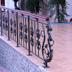 19. Wrought iron handrail