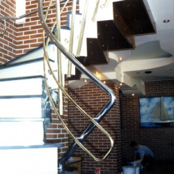 22. Bras and stainless steel handrail